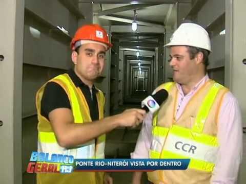 Conheça o interior da ponte Rio-Niterói no Rio de Janeiro-RJ.