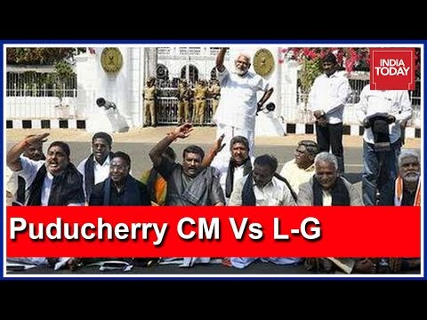 Puducherry CM Protests Against L-G Kiran Bedi Stalling Projects As Dharna Continues Mp3