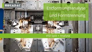 VISI Split + Analyse - Produktvideo ''Entformungsanalyse und Formtrennung''