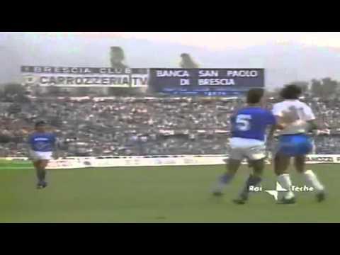 Serie A 1986-1987, day 01 Brescia - Napoli 0-1 (Maradona)