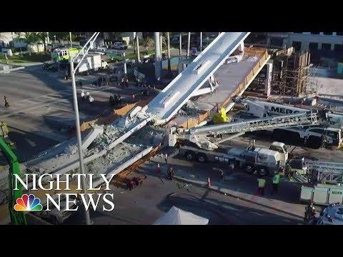 Miami Pedestrian Bridge Collapses, Killing Four   NBC Nightly News