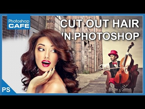 CUT OUT HAIR IN PHOTOSHOP CC TUTORIAL,  SELECT AND MASK thumbnail