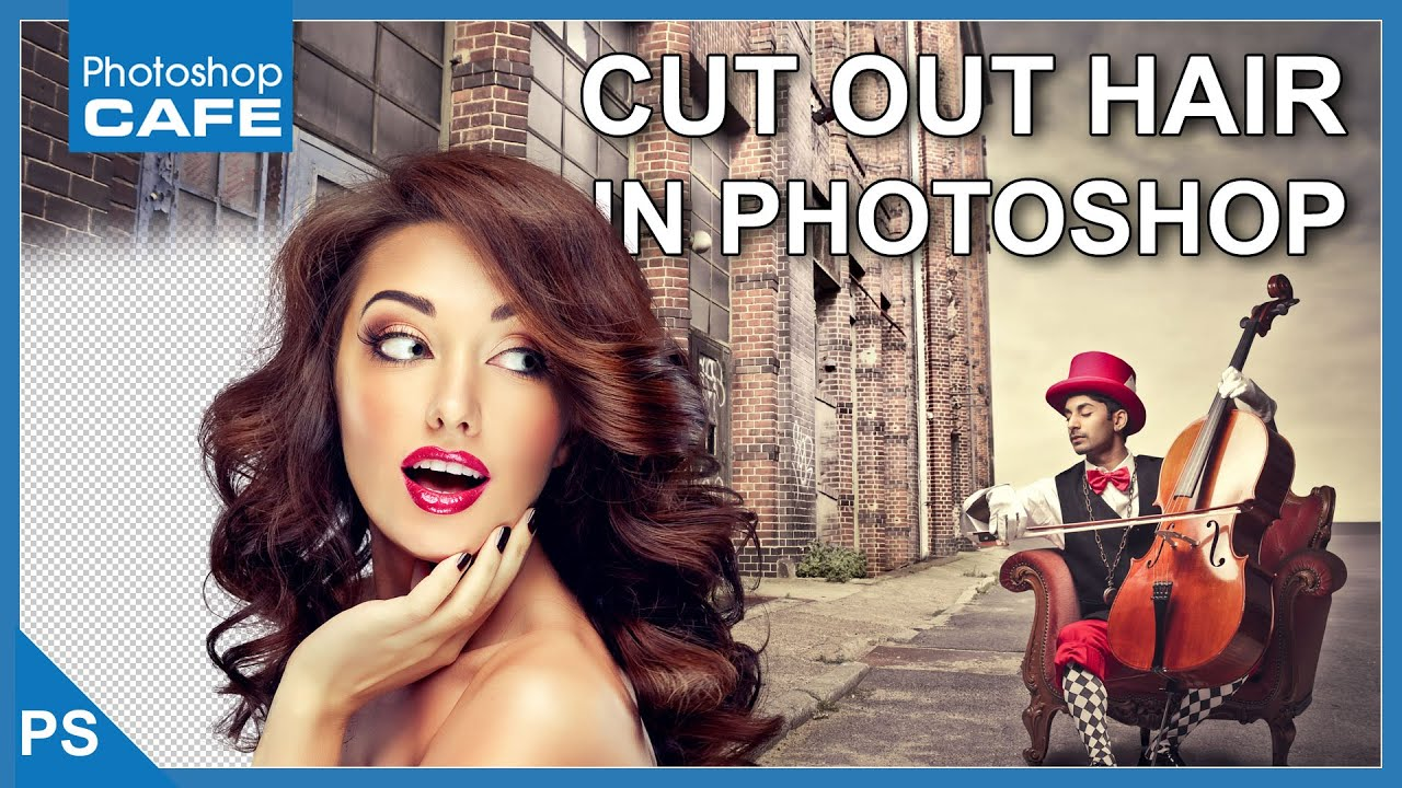 How to Cut out Hair in Photoshop CC Tutorial - PhotoshopCAFE
