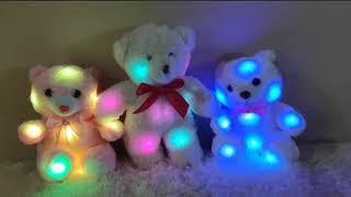 Boneka beruang LED warna warna-warni bisa bilang I LOVE YOU dan NYANYI HAPPY BIRTHDAY TO YOU