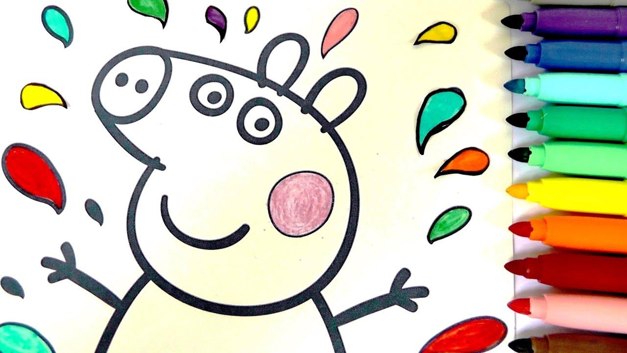 ROTULADORES MÁGICOS de PEPPA PIG con dibujos sorpresa. Colorear a ...