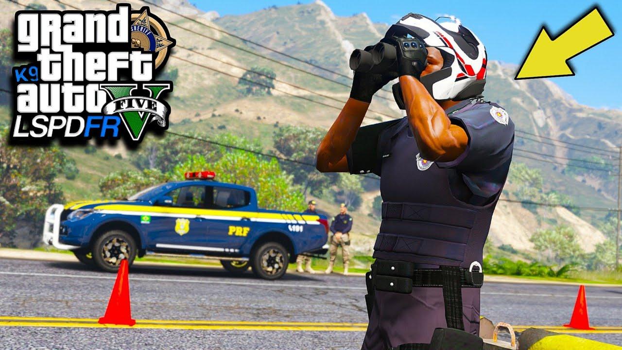 GTA V : MOD POLICIA - SUPER BLITZ POLICIAL com a ROCAM e a PRF! ( TENTOU DAR FUGA E EXPLODIU )