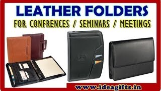 Best Quality Leather Document File Folders / Compendiums Manufacturers For Corporates.