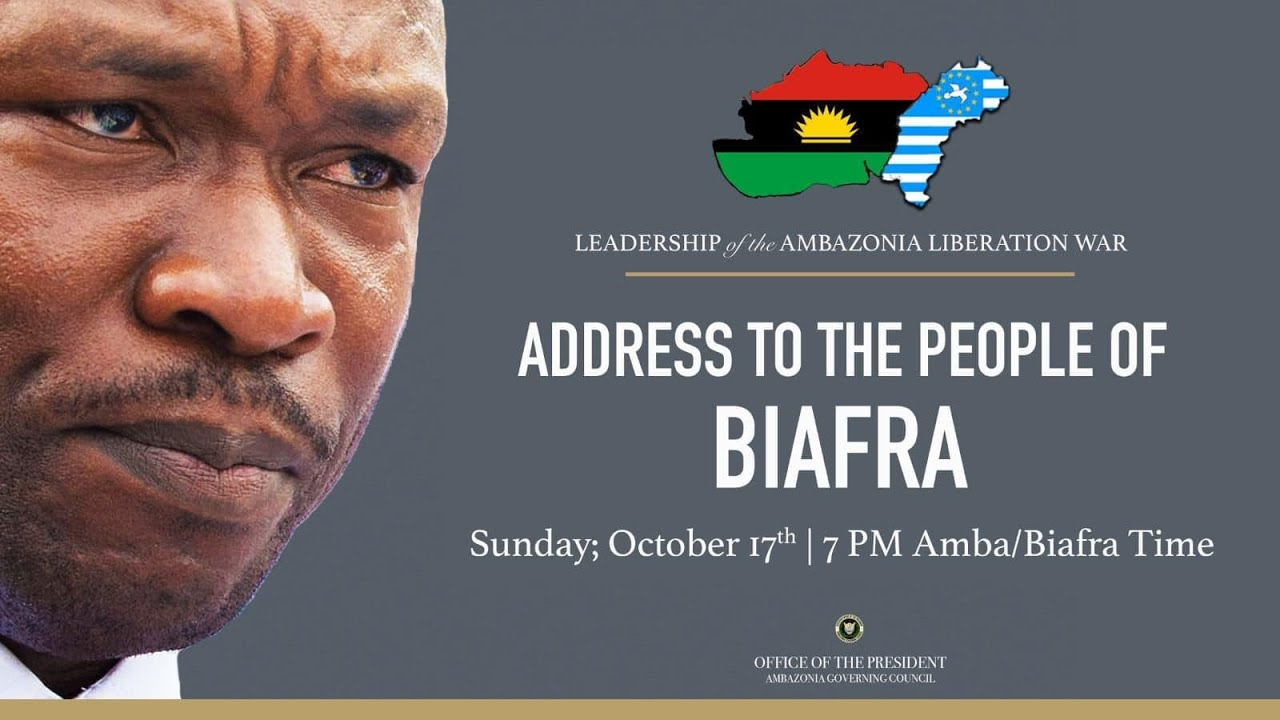 Download Dr. Cho Ayaba addresses Biafrans and Ambazonians on Biafra-Ambazonia Alliance Oct. 17, 2021