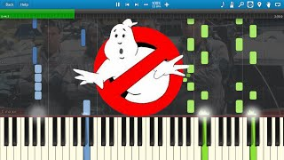 Ghostbusters Theme (Piano) [Synthesia Animation]