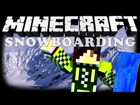 Minecraft Mini-Game #1 - Snowboarding! (Мини-игра)