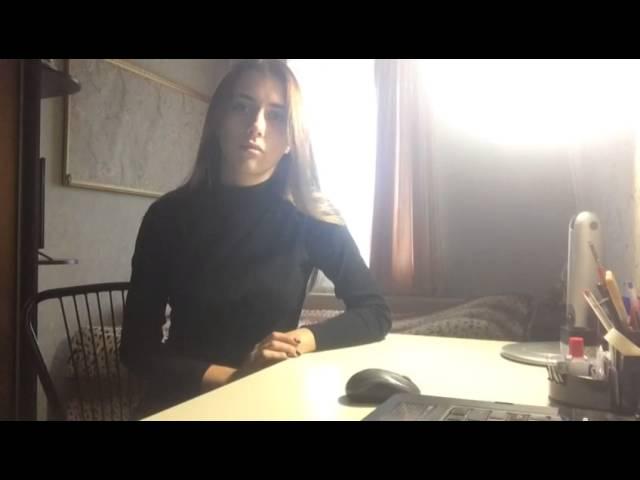 Дарья читает произведение «Листья падают в саду» (Бунин Иван Алексеевич)