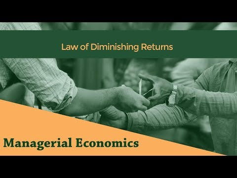 Law of Diminishing Returns | Short Run Laws of Production