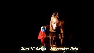 Guns N' Roses - November Rain (lyrics on screen)