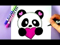 HOW TO DRAW A CUTE PANDA