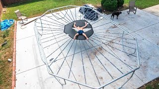 THIS TRAMPOLINE IS TERRIFYING!!