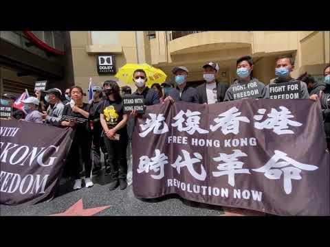 奥斯卡颁奖日 星光大道上演香港反送中(图/视频)