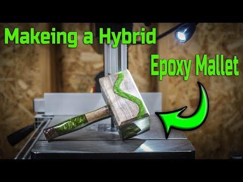Making a Hybrid Walnut and Epoxy Mallet (4k)