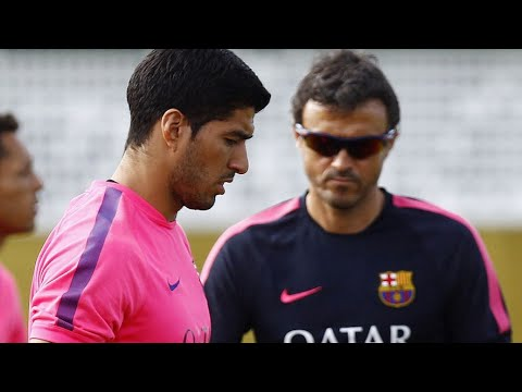 Luis Suárez First training with FC Barcelona ► 15.08.2014