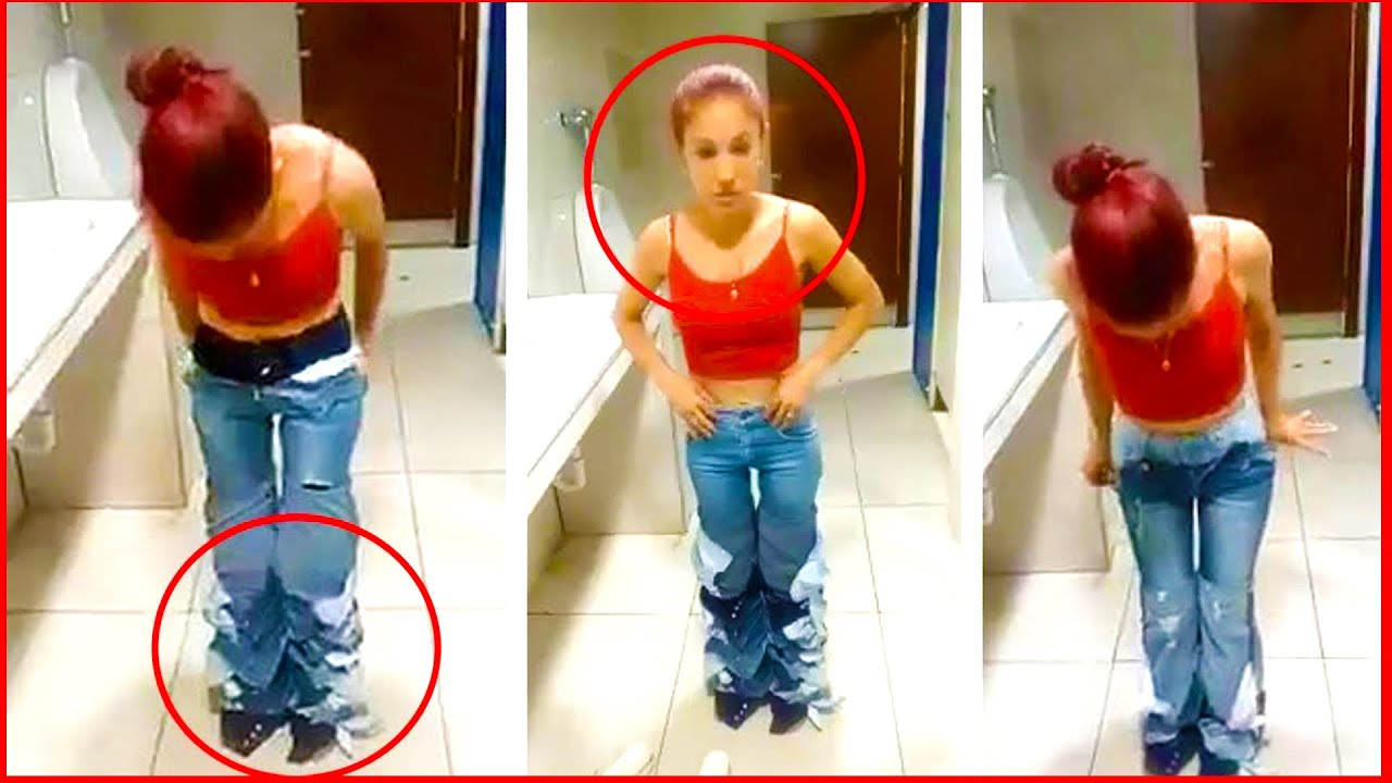 Caught with her pants down: Shoplifter is spotted wearing NINE pairs of jeans at the same time