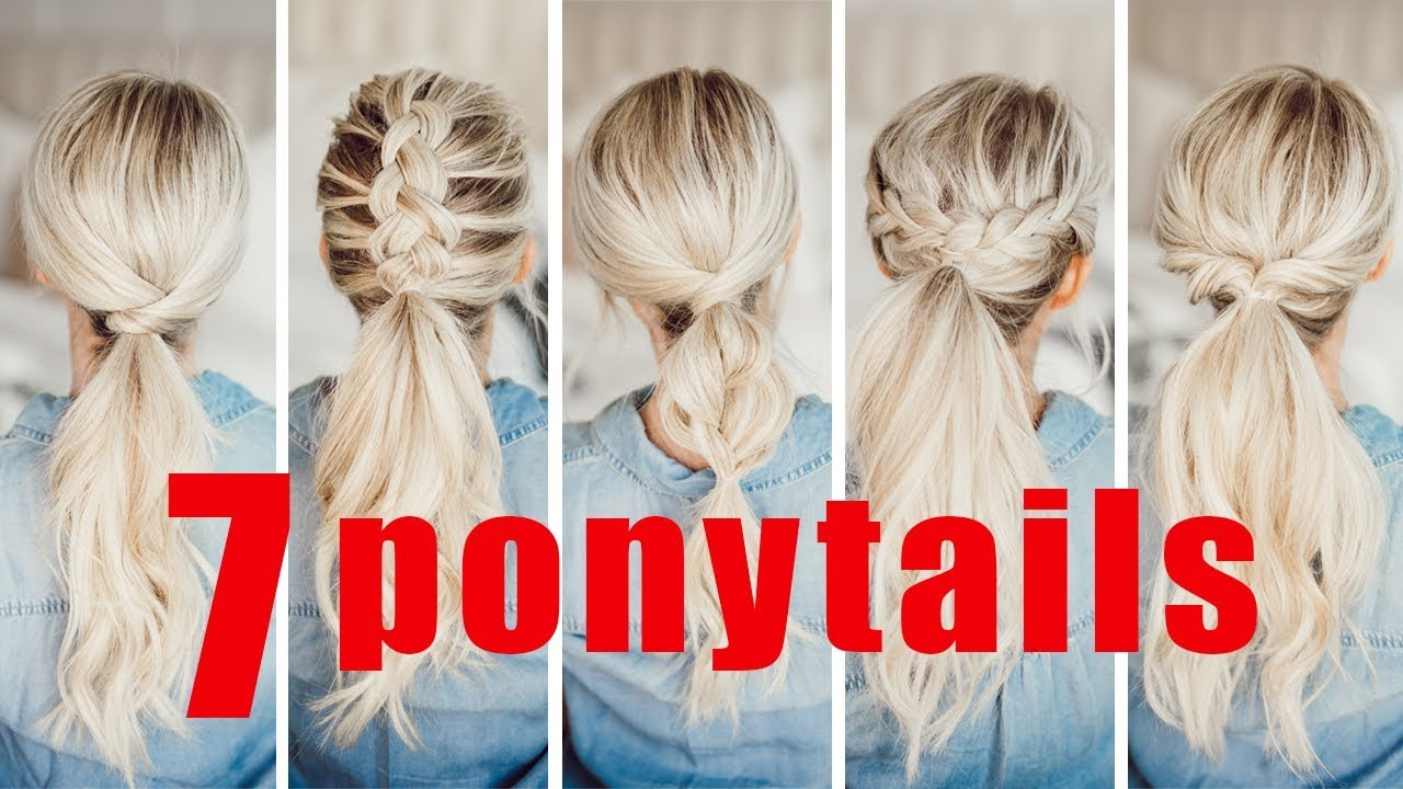 7 Easy Ponytails For Spring And Summer Twist Me Pretty Youtube