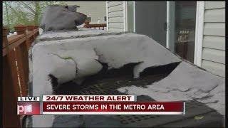 Hail damage near Green Valley Ranch