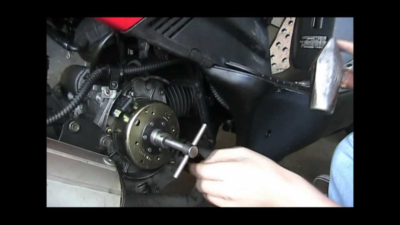 How To Fix Replace A Gy6 Flywheel Cdi Stator And Magneto Youtube Carter Talon Go Kart Wiring Diagram