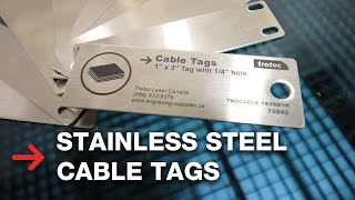 Cable Tags | Laser Engraving Stainless Steel | Trotec