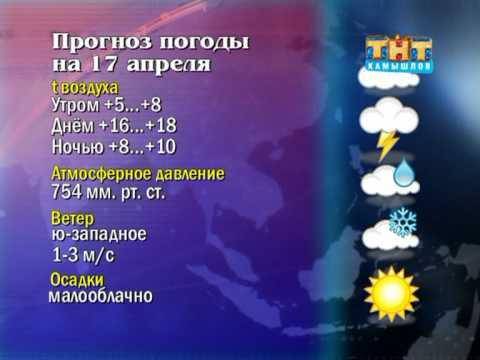 Прогноз погоды в Камышлове на 17 апреля