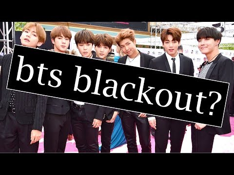 BTS TOTAL KOREAN MEDIA BLACKOUT??