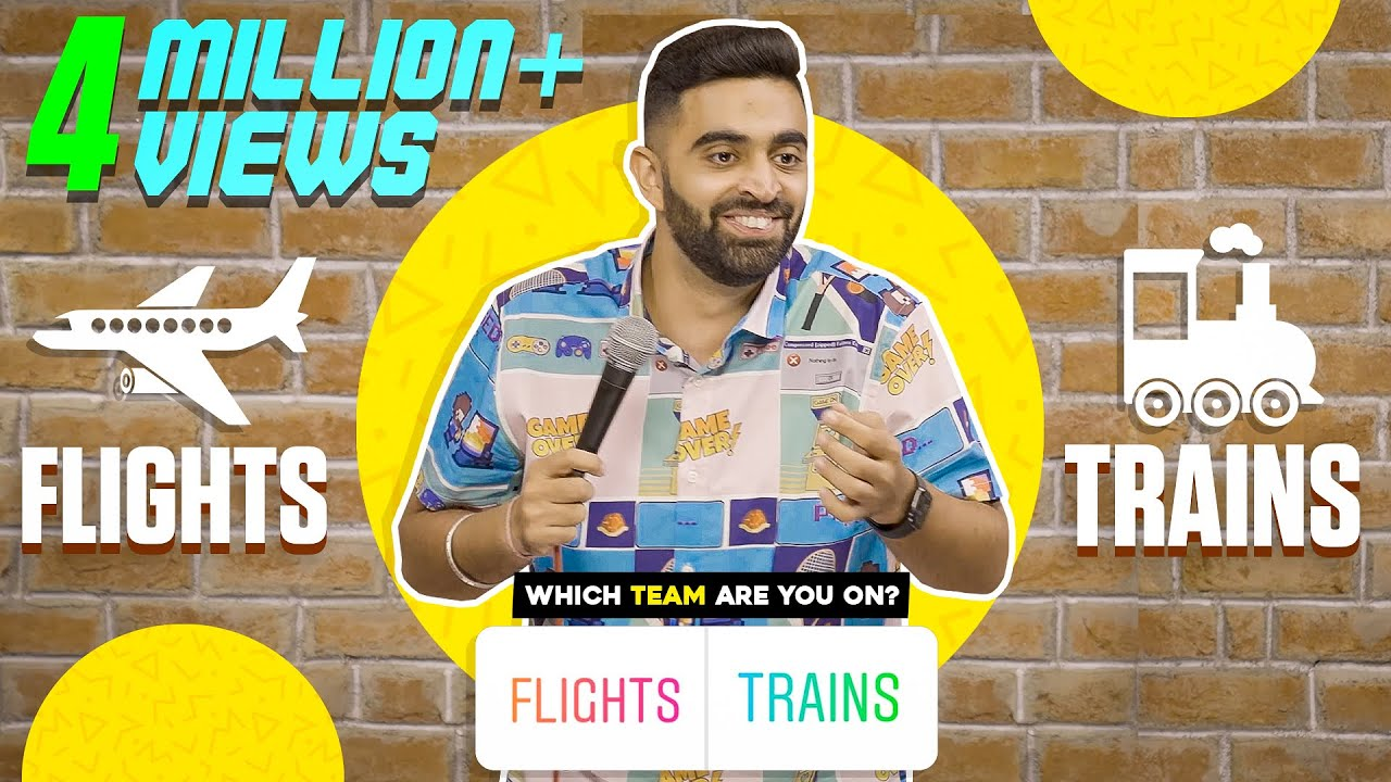 Download Are FLIGHTS really BETTER than TRAINS?? | StandUp Comedy by Rahul Dua | Part 1 #rahuldua #standup