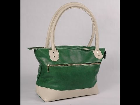 How To Make A Leather Tote Bag Without A Gusset Part 1