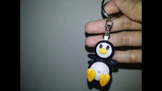 DIY 3D Penguin Keychain (Made of PAPER)
