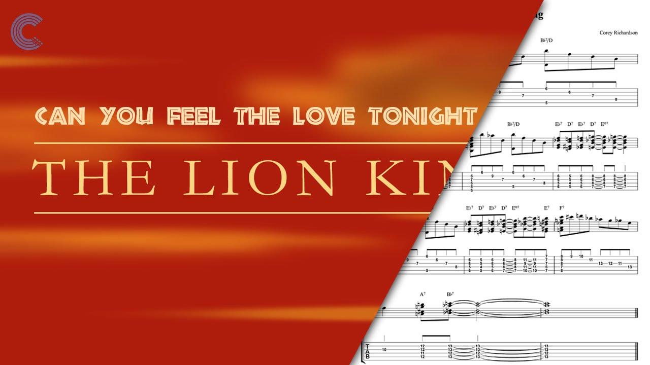 Resultado de imagen de can you feel the love tonight piano sheet