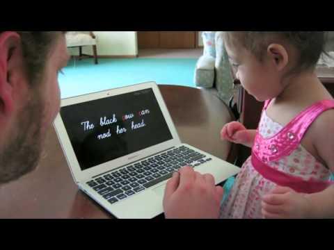 Toddler Megan Reading at 1y 11...