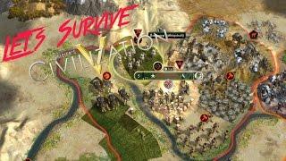 Let's Survive Civilization 5 - Äthiopien, Schwierigkeitsgrad Gottheit #deutsch