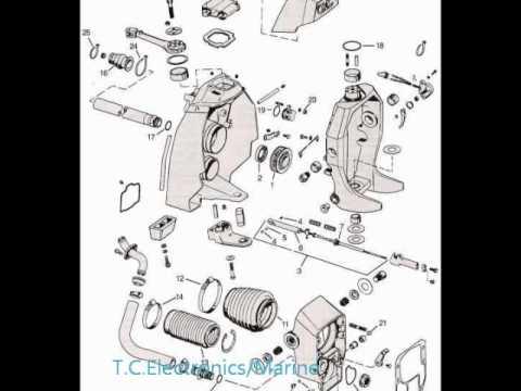1995 Volvo Penta 5 7 Wiring Diagram Omc Cobra Parts Drawings Youtube