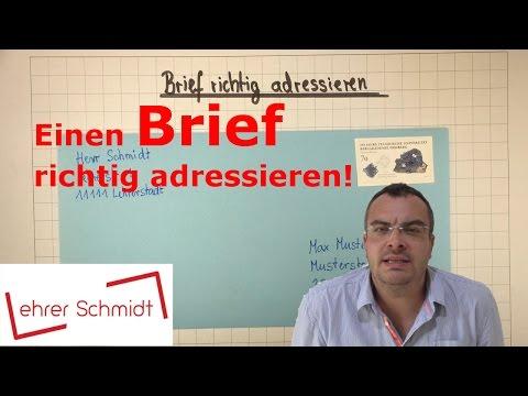 Einen Brief Richtig Beschriften (adressieren) | Sachunterricht | | Lehrerschmidt - Einfach Erklärt!