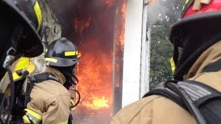 Live Burn Training House Fire Training Video - C2FR