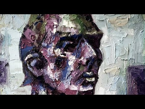 Oil Painting Portrait Tutorial, How To Paint People, Palette Knife & Brush Strokes