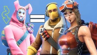 Fortnite | Rabbit Raider Jonesy | PWL 130 | Legendary Raider Skin | Easter Egg Back| Review