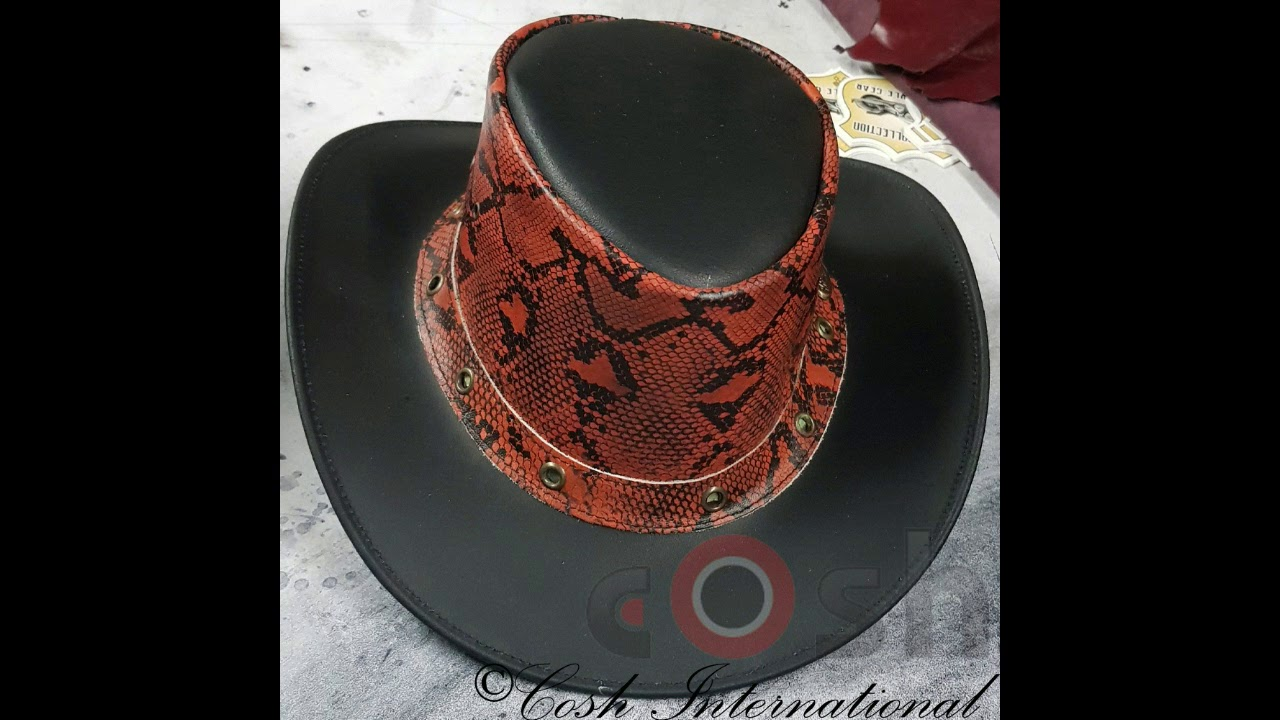 0ed0b5ea374 Leather Cowboy Hats Manufacturer And Supplier From Pakistan - YouTube