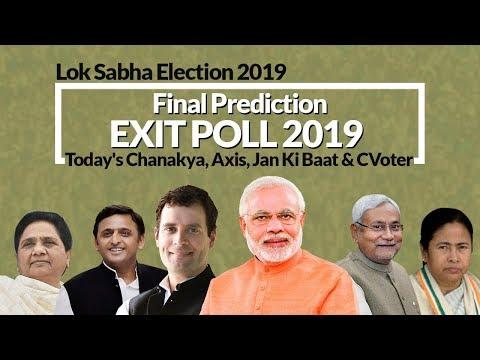 Today's Chanakya Exit Poll 2019 Lok Sabha Final Prediction