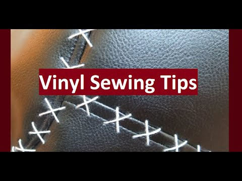 Make Sewing With Vinyl/Pleather Easier