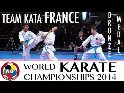 Team Kata FRANCE. Kata Annan. Bronze Medal. 2014 World Karate Championships