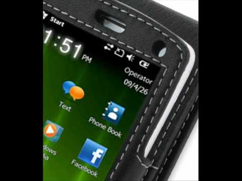 PDair Leather case for Acer beTouch E100/E101 - Flip Type (Black)