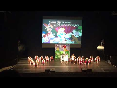 App State Sigma Kappa Lip Synch Battle 2018 Alice in Wonderland