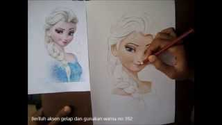 Cara Menggambar Animasi Frozen Untuk Pemula