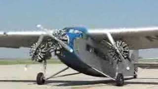 Ford Tri-Motor Starting up in Lincoln Ne