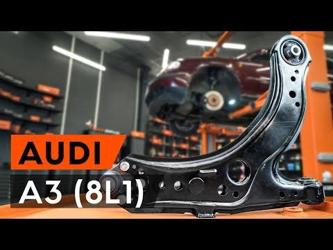 How to replacefront suspension arm/ front control arm onAUDI A3 1 (8L1) [TUTORIAL AUTODOC]
