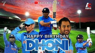 Dhoni Birthday Special Mashup 2020 | Happy Birthday Dhoni | Abhi Creations
